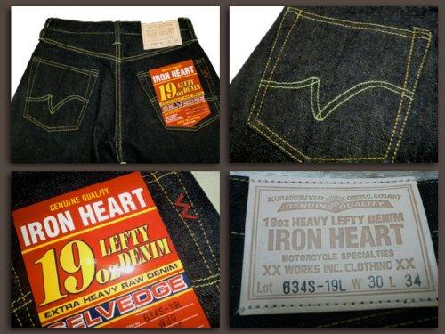 他の写真3: IRON HEART/19oz LEFT-HANDO DENIM STREIGHT JEANS