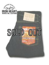 IRON HEART/19oz LEFT-HANDO DENIM STREIGHT JEANS