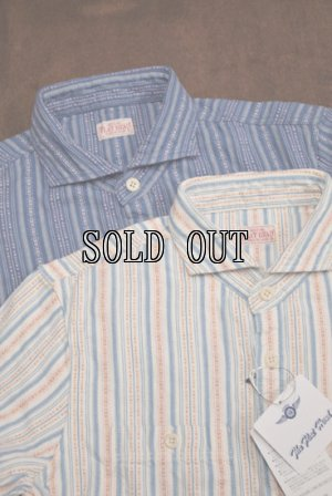 画像1: THE FLAT HEAD/DOBBY STRIPE L/S SHIRTS
