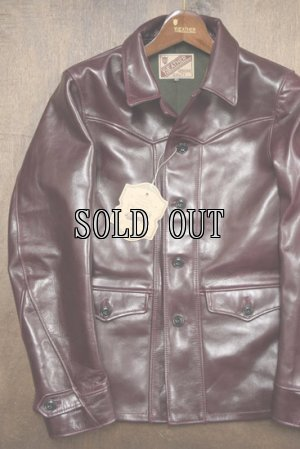 画像1: Y'2 LEATHER/ANILINE HORSE SPORTS JACKET