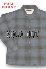 FULL COUNT/PRINT CHECK OPEN COLLAR SHIRTS