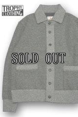 TROPHY CLOTHING/Salt&Pepper Button Sweat Jacket