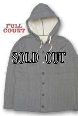 FULL COUNT/HOODED CARDIGAN SALT & PEPPER