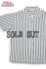 FULL COUNT/INDIGO STRIPE RAYON SHIRT