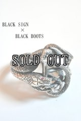 BLACK SIGN×BLACK BOOTS/STONE YEYS SNAKE RING
